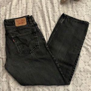 Levi's Jeans Black acid washed